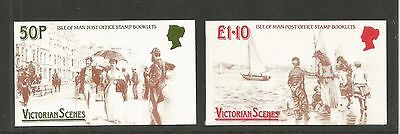 Isle of Man 1987 Victorian Scenes booklets--Attractive Topical (323a-24a) MNH