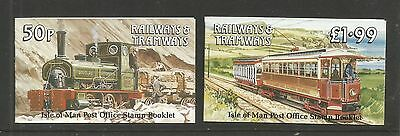 Isle of Man 1988 Railways & Tramways booklets--Attractive Topical (355b-c) MNH