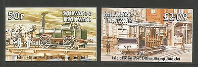 Isle of Man 1989 Railways & Tramways booklets--Attractive Topical (358a-b) MNH