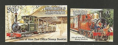 Isle of Man 1991 Railways & Tramways booklets--Attractive Topical (458b-c) MNH