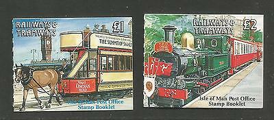 Isle of Man 1992 Railways & Tramways booklets--Attractive Topical (459a-b) MNH