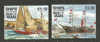 Isle of Man 1993 Historic Ships booklets--Attractive Topical (547a-b) MNH