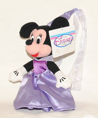 """Disney Store 8"""" Princess Minnie Mouse bean bag soft toy COLLECTABLE"""