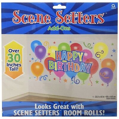 Amscan International Happy Birthday Scene Setter - Party Decoration Wall