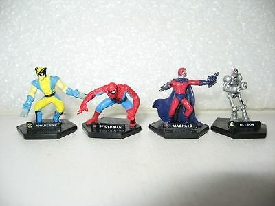 LOT DE 4 MINI FIGURINES MARVEL PLAYMATES TOYS  COMICS figure F8