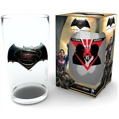 Batman V Superman Logo Large Glass - Vs