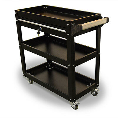 395 Us Pro Tools Black Tool Cart Mobile Trolley Workstaion Box 1 Drawer