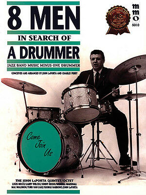Eight Men in Search of a Drummer Jazz Drum Sheet Music Minus One Book CD NEW