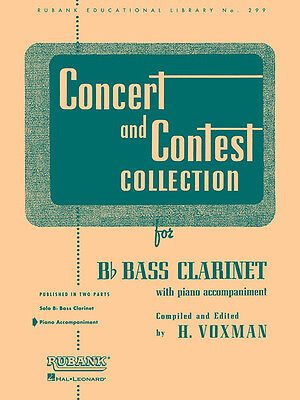Concert & Contest Collection Bb Bass Clarinet Piano Sheet Music Rubank Book NEW
