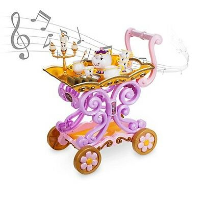 Disney Store Belle Beauty and the Beast ''Be Our Guest'' Singing Tea Cart  Set