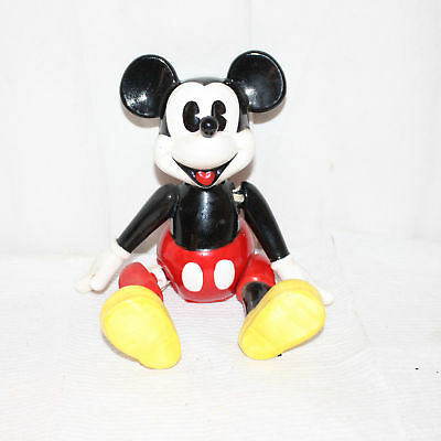 Vintage Mickey Mouse Schmid Music Box Plays Mickey Mouse Club March Jointed