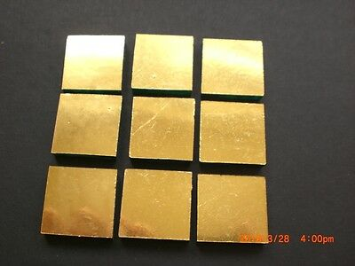 20 x 20 mm Mosaic **GOLD LEAF** Mirror Glass Tiles  4 mm thick - 50 Tiles