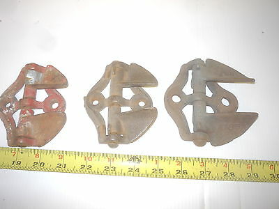 3 Old Farm Wood Post Iron Gate Catch Latch Hook