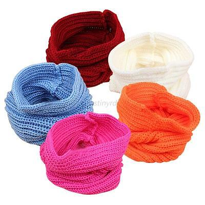 Lovely Toddler Baby Winter Warm Knitted Scarf Boys Girls Crochet Knitted Scarves