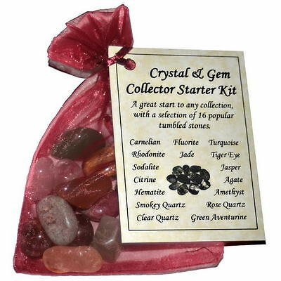 Crystal & Gemstone Collector Starter Kits inspiration reiki tumble 16 stones