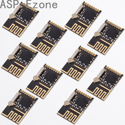 10pcs NRF24L01+ 2.4G Wireless Module 125Frequency Points Low Power Consumption