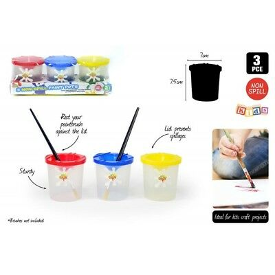 3pce Non Spill Paint Pots for Painting, Kids, Activities