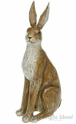 Wildlife - COUNTRY BROWN WOOD EFFECT LARGE FIGURINE - Hare