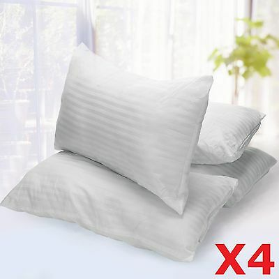 4x LUXURY DELUXE PILLOWS SUPER BOUNCE BACK HOLLOW BED SLEEPING HOTEL HOME PILLOW