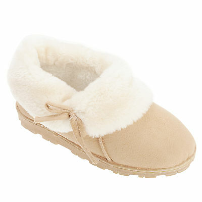 Slumberzzz Womens/Ladies Faux Fur Lined Slippers