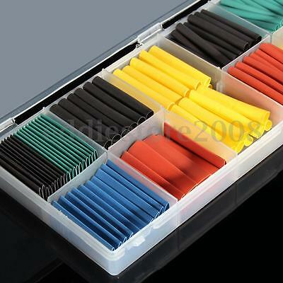 280PCS 5 Colors 8 Sizes Assorted 2:1 Heat Shrink Tubing Wrap Sleeve Kit WIth Box