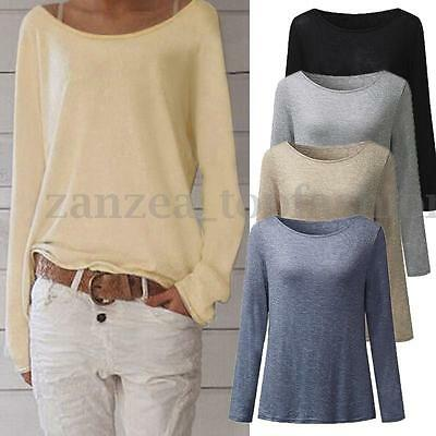 Plus Size Women Long Sleeve Top Blouse T Shirt Tee Loose Sweater Pullover Jumper