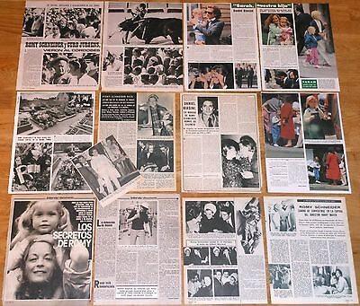 ROMY SCHNEIDER spanish clippings 1960s/80s photos magazine article actress