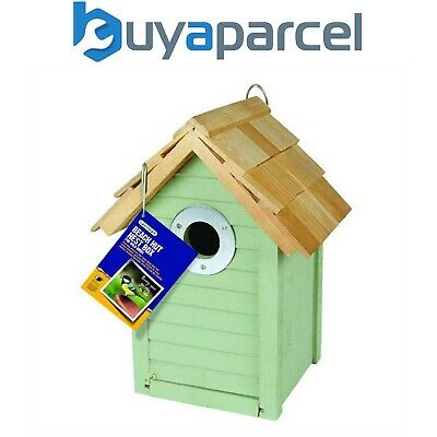 Gardman Wooden Beach Hut Bird Nest Nesting Box House Sage Green A01685