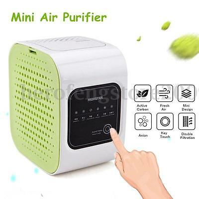 Mini Space Ionizers USB Air Purifier Odor Reduction Air Cleaner For Car Room NEW