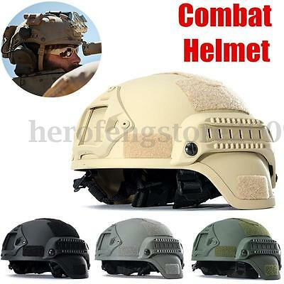MICH2000 Paintball Tactical Hunting Combat Helmet w/ Side Rail NVG Mount Sticker