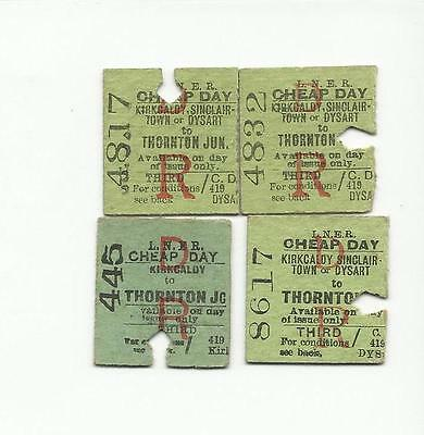 LNER tickets from Thornton Junction x4