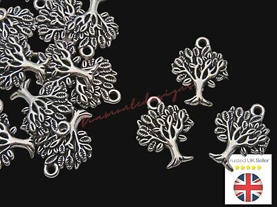 ❤ 10 x Tibetan Silver TREE OF LIFE CHARMS 22mm Jewellery Making ❤