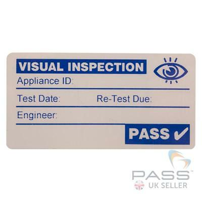 500 x Blue Visual Inspection PASS or PAT Testing Labels