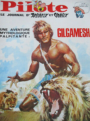 Pilote N)° 402 couverture Yves Thos Gilgamesh 6 juillet 1967
