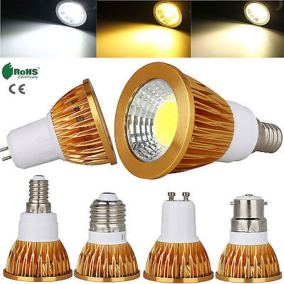 Ultra Bright 9W 12W 15W CREE COB LED Spotlight Bulbs MR16 GU10 E27 E14 GU5.3 B22