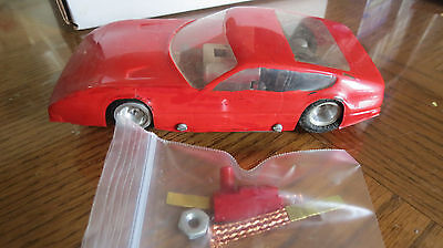 Parma  Vintage  Womp With A Ferrari ? Body Slot Car Runner or Beater