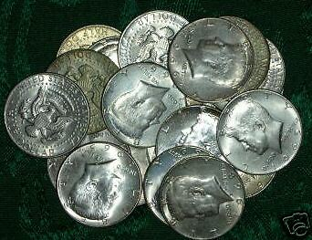 One (20) Roll---Silver Kennedy~ Mixed Date Half Dollars
