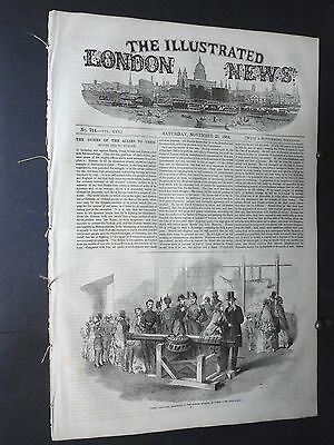 1854 Illustrated London News- Scots Greys Charge of the Light Brigade Balaklava