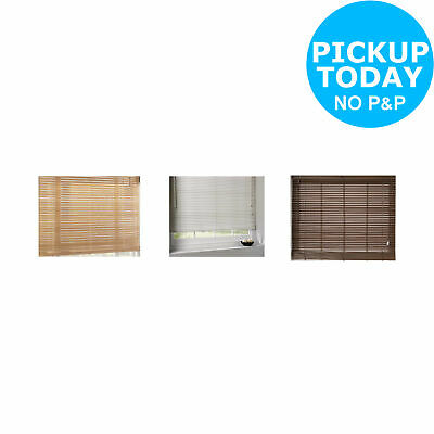 Argos Home Wooden Venetian Blind - Choice of Length, Width and Colour