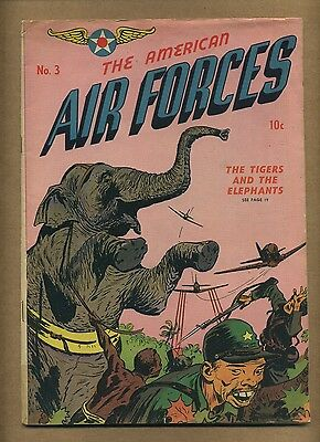 American Air Forces #3 (G+) William H Wise 1945 Golden Age War Comic (c#11094)
