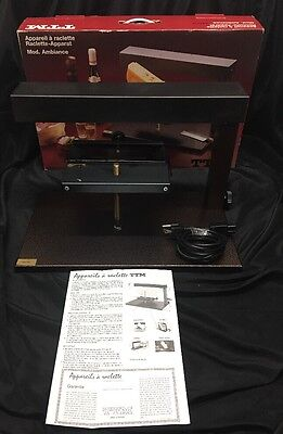 TTM Half Wheel Raclette Cheese Melting Set Ambience Nice Condition~ Ships Fast!