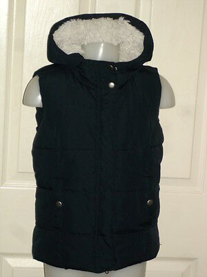 Hooch Girls Navy Blue Hood Quilted Faux Fur Lined Gilt Age 10/11Yrs