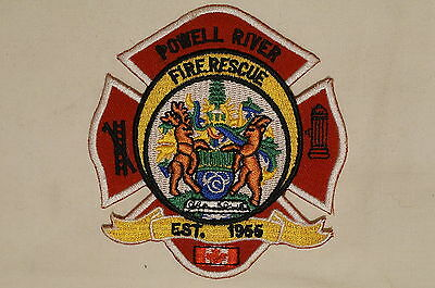 Canadian British Columbia Powell River Fire Rescue Patch