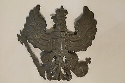 WW1 Imperial German Prussian Other Ranks Wappen Plate for Shako Helmet