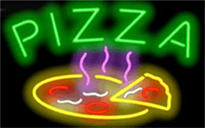PIZZA Genuine Neon Sign JANTEC USA Fast Free Shipping 32x20 Restaurant Shop Bar