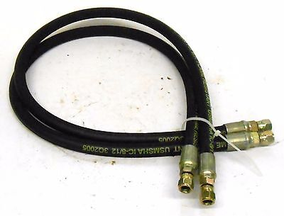 """Mwh 1/4"""" 2 Sn Din En 853 Flame Resistant Hydraulic Hose, 35"""" Length, Lot Of 2"""