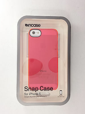 Incase Snap Case Cover For iPhone Se iPhone 5 iPhone 5S Transparent Pink / Clear