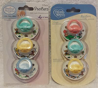 New Precious Moments 3 Piece Pacifier Set