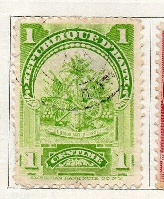 Haiti 1898-1900 Early Issue Fine Used 1c. 100902