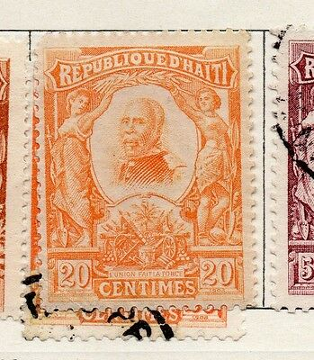 Haiti 1904 Early Issue Fine Mint Hinged 20c. 100917